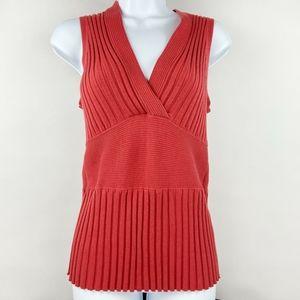 CAbi Red V-Neck Sleeveless Top Size Medium #567
